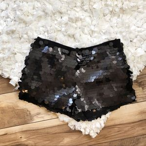 Free People Festival Black Sequin Shorts